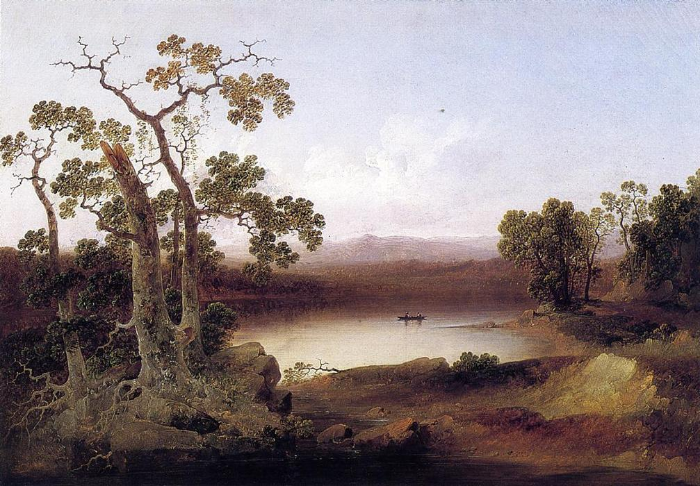 View of the Susquehanna, 1839 by Joshua Shaw (1776-1860, United Kingdom) | Famous Paintings Reproductions | WahooArt.com