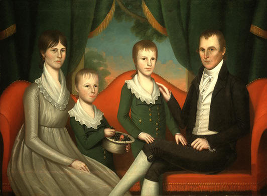 Family Portrait by Ralph Eleaser Whiteside Earl (1751-1801, United States) | Reproductions Ralph Eleaser Whiteside Earl | WahooArt.com