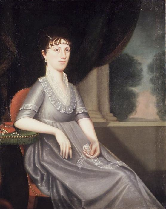 Buy Museum Art Reproductions | Mrs. Ebenezer Porter by Ralph Eleaser Whiteside Earl (1751-1801, United States) | WahooArt.com