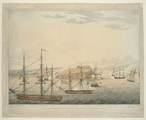 Robert Havell - Attack on Fort Oswego, Lake Ontario, N. America