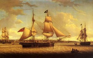 Robert Salmon - Ship off Liverpool