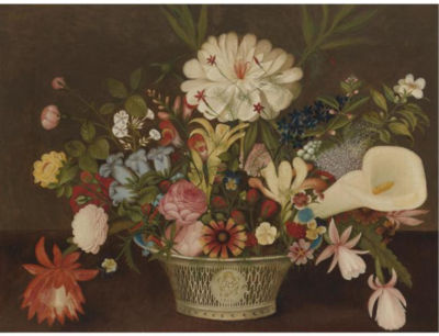 Order Oil Painting : From Nature in the Garden by Rubens Peale (1784-1865, United States) | WahooArt.com