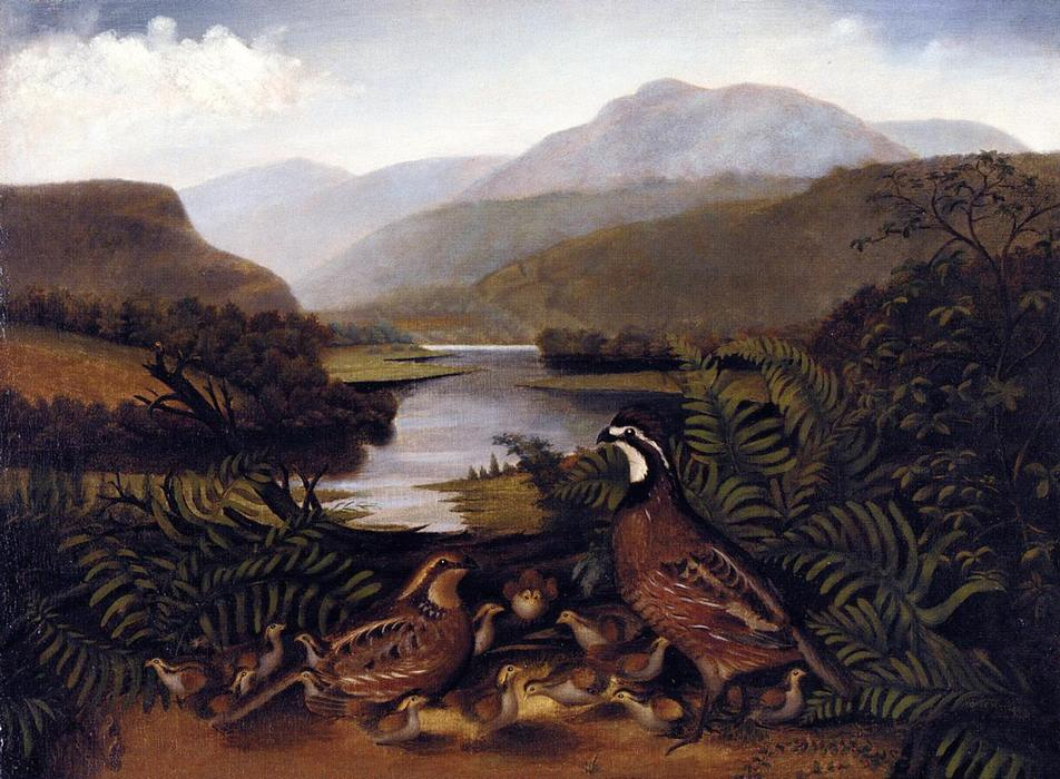 Partridges in a Landscape, 1861 by Rubens Peale (1784-1865, United States) | Painting Copy | WahooArt.com