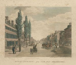 Thomas Birch - High Street, from Ninth Street. Philadelphia