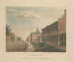 Thomas Birch - State-House, with a view of Chesnut Street Philadelphia