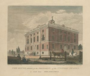 Thomas Birch - The house intended for the President of the United States, in Ninth Street Philadelphia