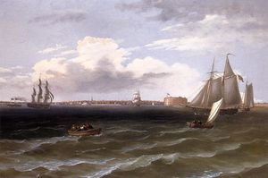 Thomas Birch - View of New York Harbor