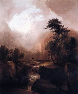 Thomas Doughty - Landscape with Waterfall