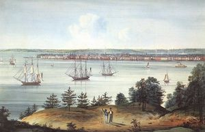 William Guy Wall - The Bay of New York Taken from Brooklyn Heights