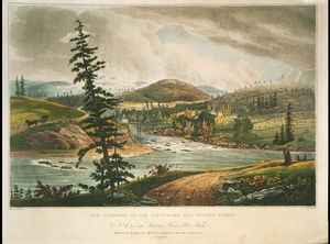 William Guy Wall - The junction of the Sacandaga and Hudson Rivers