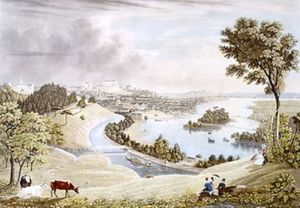 William James Bennett - Richmond from the Hill above the Waterworks