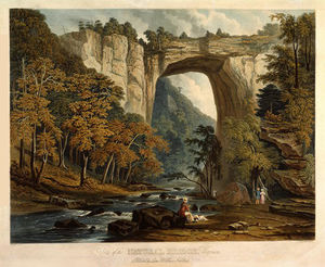 William James Bennett - View of the Natural Bridge