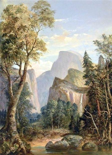 A View Of Yosemite by William Smith Jewett (1812-1873, United States) | Famous Paintings Reproductions | WahooArt.com