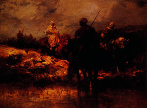 Adolf Schreyer - Arabs on Horseback 1