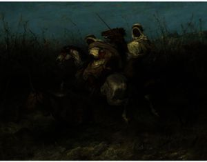 Adolf Schreyer - The Lion Hunt