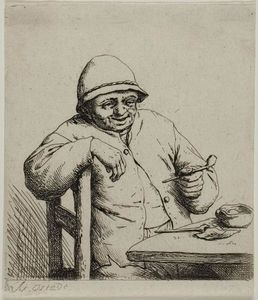 Adriaen Van Ostade - The Laughing Smoker
