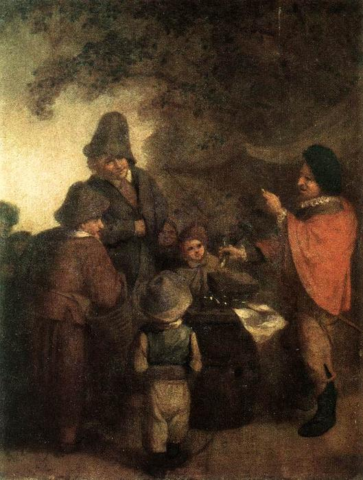 The Stall Keeper by Adriaen Van Ostade (1610-1685, Netherlands) | Paintings Reproductions Adriaen Van Ostade | WahooArt.com