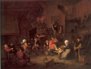 Adriaen Van Ostade - Villagers Merrymaking At An Inn