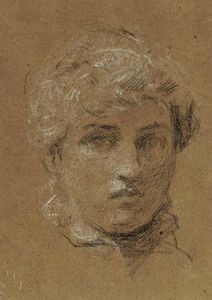 Albert Joseph Moore - Study of the head of a girl