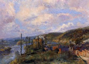 Albert-Charles Lebourg (Albert-Marie Lebourg) - Near Rouen. the Cliffs of Saint-Adrien
