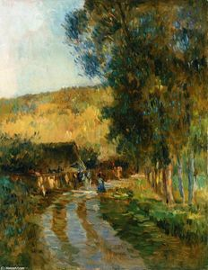 Albert-Charles Lebourg (Albert-Marie Lebourg) - Road in the Vallee de LIton