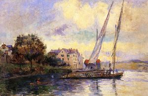 Albert-Charles Lebourg (Albert-Marie Lebourg) - The Banks of Lake Geneva, St. Gingolph