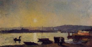 Albert-Charles Lebourg (Albert-Marie Lebourg) - The Seine at Rouen