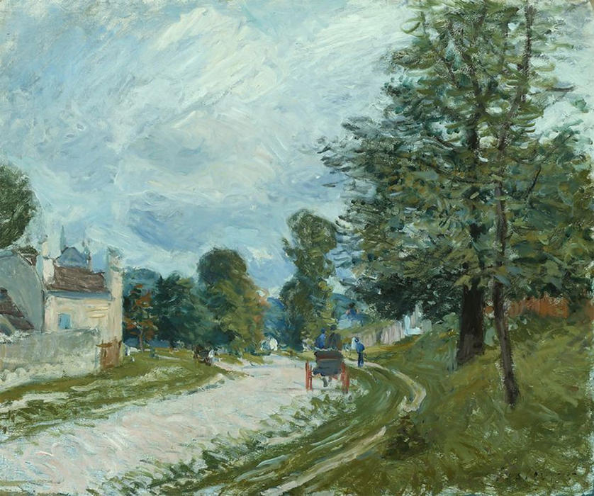 A Turn in the Road, Oil On Canvas by Alfred Sisley (1839-1899, France)