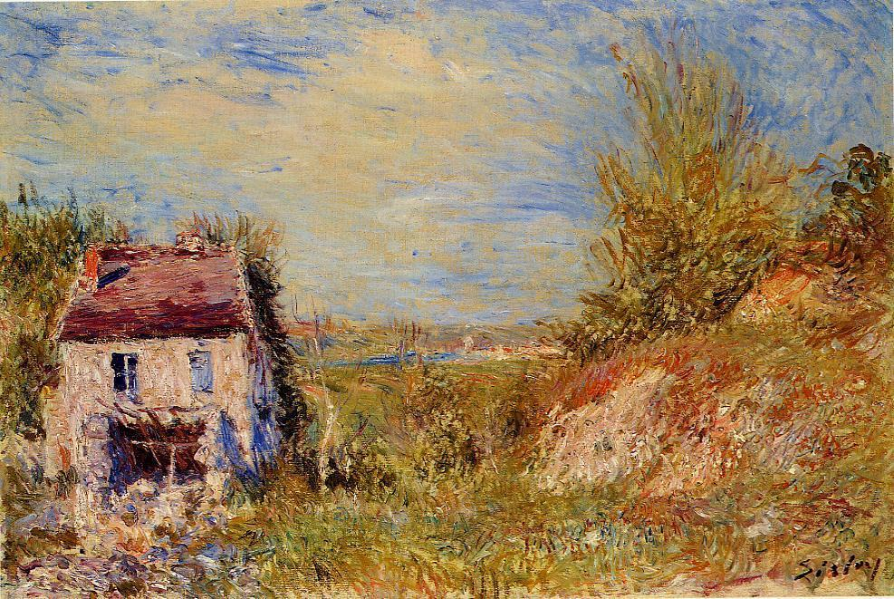 Abandoned House 1, Oil by Alfred Sisley (1839-1899, France)