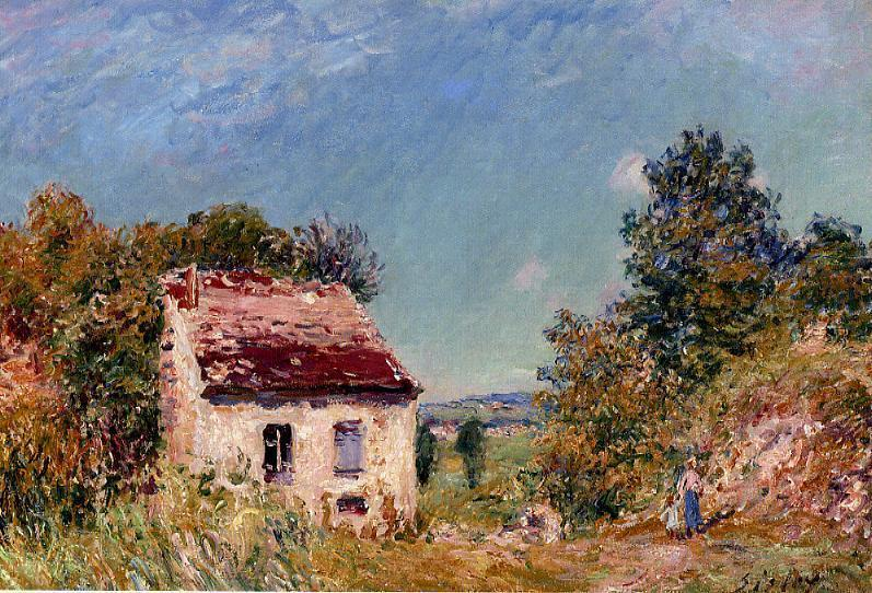 Abandoned House, Oil On Canvas by Alfred Sisley (1839-1899, France)