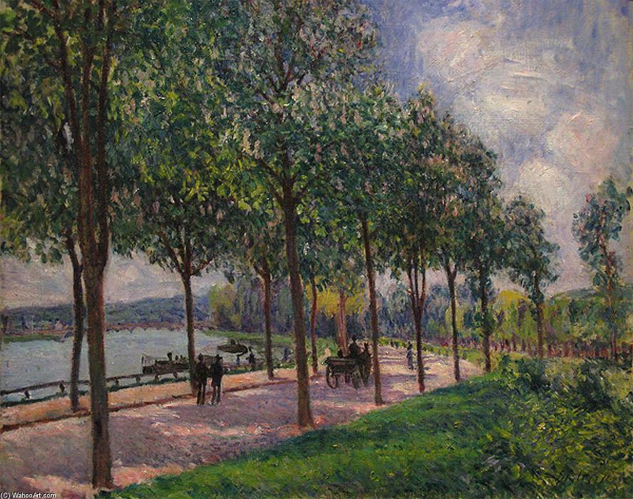 Alley of Chestnut Trees, Oil On Canvas by Alfred Sisley (1839-1899, France)