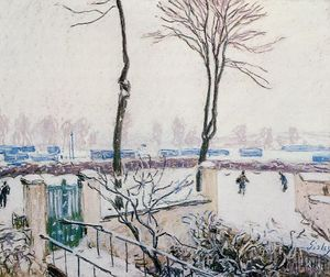 Alfred Sisley - Approach to the Railway Station