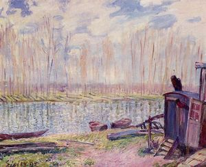 Alfred Sisley - Banks of the Loing 1