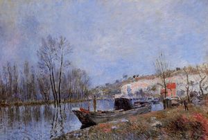 Alfred Sisley - Banks of the Loing towards Moret