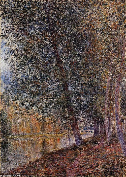 Banks of the Loing, Autumn, Oil On Canvas by Alfred Sisley (1839-1899, France)