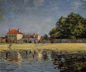 Alfred Sisley - Banks of the Loing, Saint Mammes