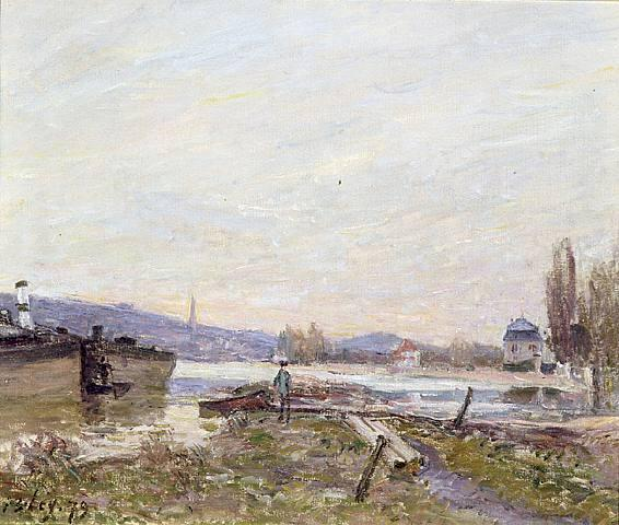 Banks of the Seine 1 by Alfred Sisley (1839-1899, France) | Art Reproduction | WahooArt.com