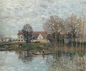 Alfred Sisley - Banks of the Seine at Port Marly