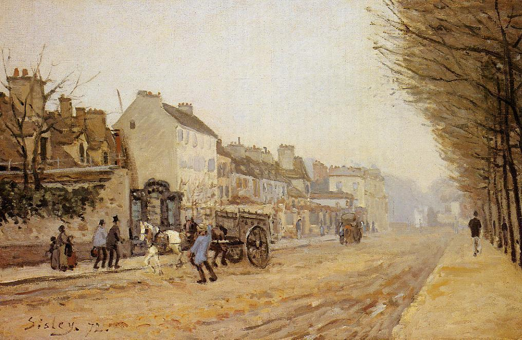 Boulevard Heloise, Argenteuil, Oil On Canvas by Alfred Sisley (1839-1899, France)