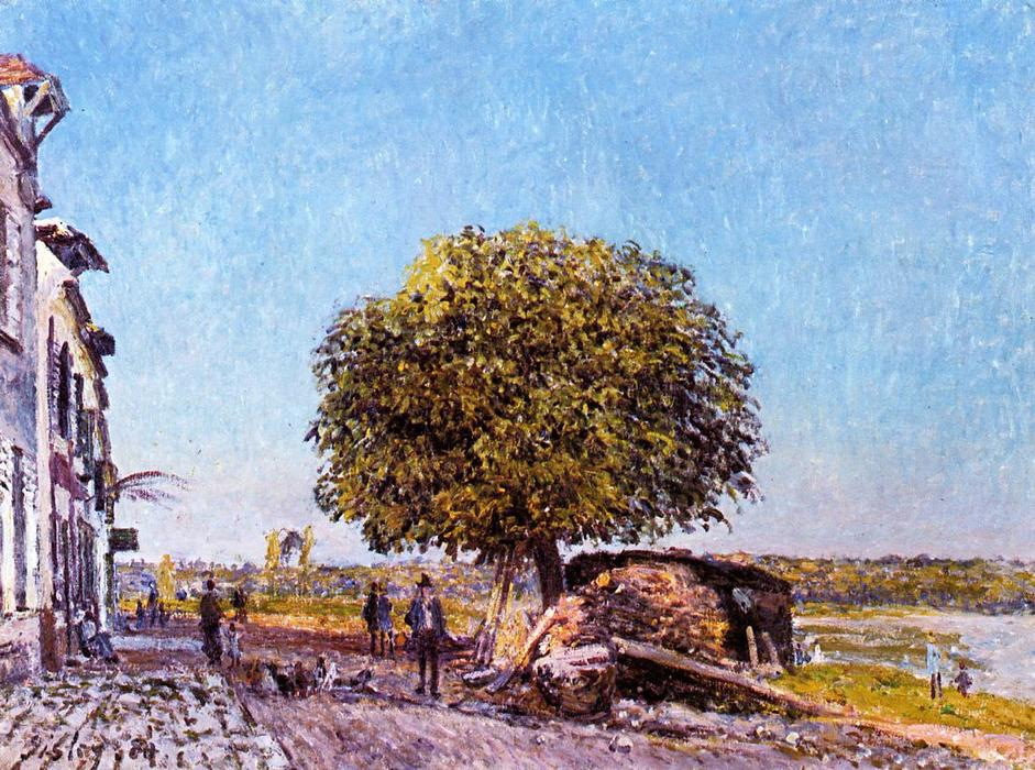 Chestnut Tree at Saint Mammes, 1880 by Alfred Sisley (1839-1899, France) | WahooArt.com