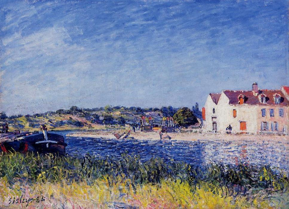 Confluence of the Seine and the Loing, Oil On Canvas by Alfred Sisley (1839-1899, France)