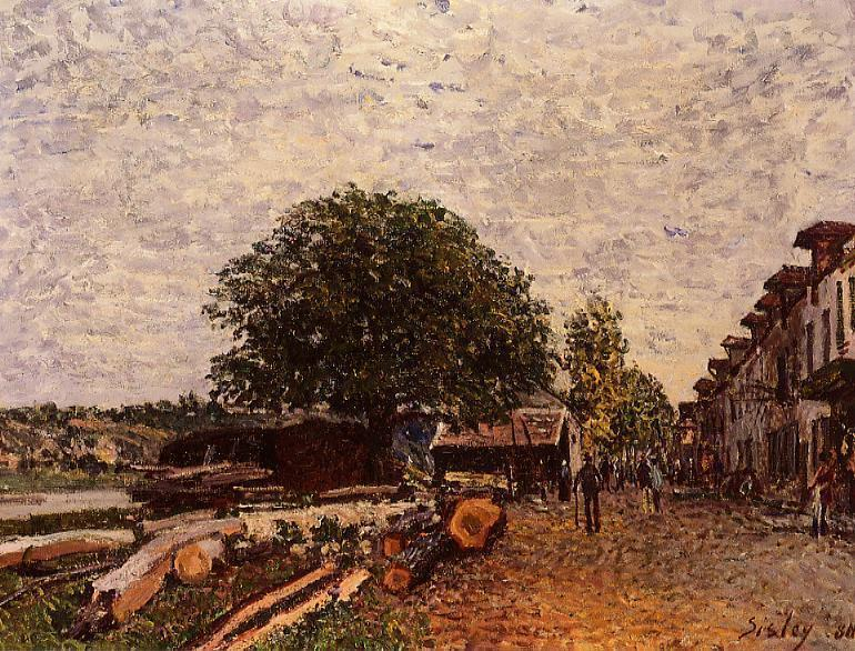 Construction Site at Saint Mammes, Oil On Canvas by Alfred Sisley (1839-1899, France)