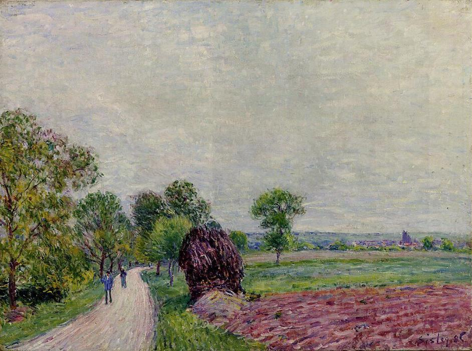 Countryside near Moret, Oil On Canvas by Alfred Sisley (1839-1899, France)