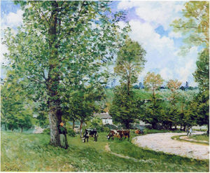 Alfred Sisley - Cow Pasture near Louveciennes