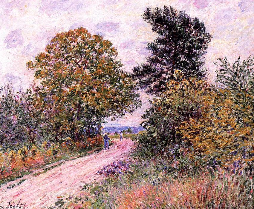 Edge of the Fountainbleau Forest Morning, Oil On Canvas by Alfred Sisley (1839-1899, France)
