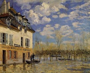 Alfred Sisley - Flood at Port-Marly 1