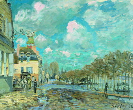 Flood at Port-Marly 4, Oil by Alfred Sisley (1839-1899, France)