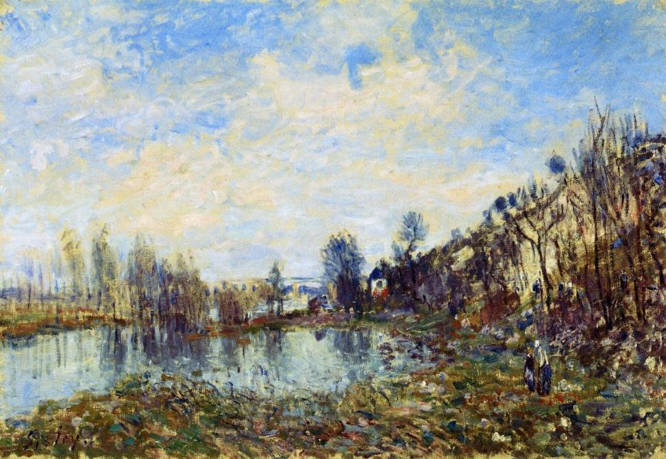 Flooded Field, Oil On Canvas by Alfred Sisley (1839-1899, France)