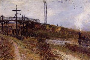 Alfred Sisley - Footbridge over the Railroad at Sevres