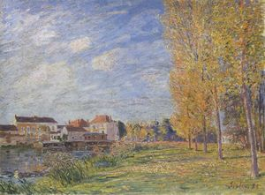Alfred Sisley - Indian Summer at Moret Sunday Afternoon